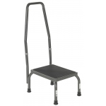 Drive Medical Design Footstool with Non Skid Rubber Platform and Handrail