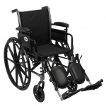 Drive Medical Design Cruiser III Lightweight Dual-Axle Wheelchair: Flip Back Detachable and Adjustable Height Desk Arm, Elevating Leg Rest, 16""