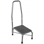 Drive Medical Design Bariatric Footstool with Non Skid Rubber Platform and Handrail: Heavy Duty