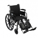 Drive Medical Design Cruiser III Lightweight Dual-Axle Wheelchair: Flip Back Detachable and Adjustable Height Desk Arm, Elevating Leg Rest, 18""