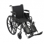 Drive Medical Design Cruiser III Lightweight Dual-Axle Wheelchair: Flip Back Detachable Desk Arm, Elevating Leg Rest, 16""
