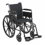 Drive Medical Design Cruiser III Lightweight Dual-Axle Wheelchair: Flip Back Detachable Full Arm, Swing Away Footrest, 18""