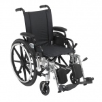 Drive Medical Design Deluxe High Strength Lightweight Dual Axle Viper Wheelchair: Flip Back Desk Arm, Swing Away, Elevating Leg rests, 14""