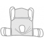"Drive Medical Design Commode Sling with Positioning Strap: One Piece, Small, 32"" x 26"""