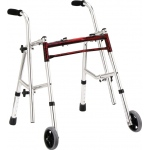 Drive Medical Design Glider Walker: Junior, Flame Red, 22""