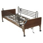 Drive Medical Design Delta™ Semi-Electric Bed with Full-Length Side Rails: Ultra- Light 1000