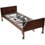 "Drive Medical Design Delta™ Full-Electric Bed with Full-Length Side Rails and 80"" Foam Mattress: Ultra-Light 1000"