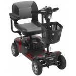 "Drive Medical Design Phoenix HD 4 Heavy-Duty Travel Scooter: 17.5"" Folding Seat"