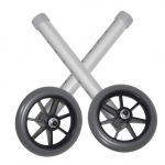 Drive Medical Design Universal Walker Wheels: Silver Tubing, Gray Tire and Silencer, 5""