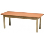 "Generic Wooden Treatment Table: Standard, Upholstered, 78"" L x 24"" W x 30"" H"