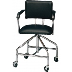 "Whitehall Adjustable Low-Boy Whirlpool Chair with Belt: 3"" Casters"