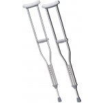 "Underarm adjustable aluminum crutch, adult (5' 0"" - 6' 2""), 8 pair"