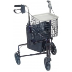 Generic 3-Wheel Rollator with Loop Brake: Blue, 1 Each: