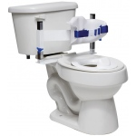 Fabrication Enterprises Columbia Toilet Support: Low Back (Safety Belt & Reducer Ring), Padded, Small