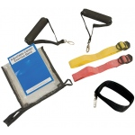 CanDo® Adjustable Exercise Band Kit - 2 band easy (yellow, red)