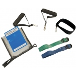 CanDo® Adjustable Exercise Band Kit - 2 band moderate (green, blue)