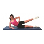 Fabrication Enterprises CanDo Exercise Mat: Non Folding, 2 Inch PU Foam with Cover, 2 x 5 Foot, Specify Color