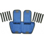 The Adjustable Cuff® ankle weight - 10 lb - 20 x 0.5 lb inserts - Blue - each