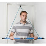Fabrication Enterprises CanDo Over Door Exercise Bar and Tubing: Blue, Heavy