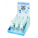 Fabrication Enterprises Point Relief ColdSpot Lotion: Retail Display with 12 x 3 oz. Spray Bottle