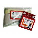 Fabrication Enterprises Relief Pak Moist Heat Pack & Cover Set: Neck Contour Pack W/ Foam Fill Pocketed Cover