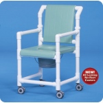 Innovative Products Unlimited Deluxe Shower Chair Commode with Closed Seat & Deluxe Back