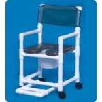 Innovative Products Unlimited Standard Soft Seat Shower Commode with Footrest