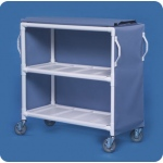 "Innovative Products Unlimited 2 Shelf Linen Cart: 46"" x 20"" Shelves, Replaces ELC32 & LC302"