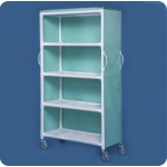 "Innovative Products Unlimited 4 Shelf Linen Cart, 46"" x 20"" Shelves, Replaces LC304"