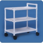 "Innovative Products Unlimited Cart with Three Shelves: No Cover, 36"" x 20"""