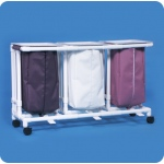 Innovative Products Unlimited Triple Linen Hamper with Footpedal