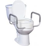 Drive Medical Design Premium Raised Toilet Seat with Removable Arms: Fits Standard Toilets, 17""