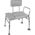 Drive Medical Design Padded Transfer Bench: Tool-Free Assembly Back, Legs and Arms