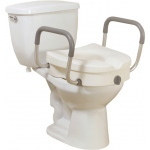 Drive Medical Design Raised Toilet Seat with Tool-Free Removable Arms: 2-In-1 Locking