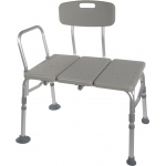 "Drive Medical Design Transfer Tub Bench: Knocked Down, Tool-Free Back, Legs and Arms, 33"" Long"