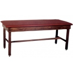 "wooden treatment table - H-brace, upholstered, 78"" L x 24"" W x 30"" H"
