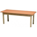 "Generic Wooden Treatment Table: Standard, Upholstered, 72"" L x 24"" W x 30"" H"