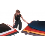 Fabrication Enterprises CanDo Mat with Handle: Non Folding, 2 Inch, EnviroSafe Foam with Cover, 5 x 7 Foot, Specify Color