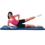 "CanDo® Exercise Mat - Center Fold - 2"" EnviroSafe® Foam with Cover - 2' x 6' - Specify Color"