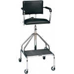 "Whitehall Adjustable High-Boy Whirlpool Chair with Belt: 3"" Casters"