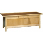"wooden treatment table - enclosures, raised rim top, 78"" L x 30"" W x 30"" H"