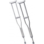 "Underarm adjustable aluminum crutch, tall adult (5' 10"" - 6' 6""), 1 pair"