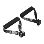 Fabrication Enterprises CanDo Exercise Band: Accessory, Foam Padded Adjustable Webbing Handle, Pair