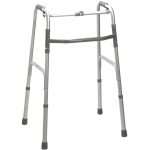 Folding 2-button walker, junior, no wheels, 1 each