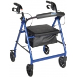 Generic 4-Wheel Rollator with Loop Brake: Blue, 1 Each