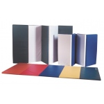 "CanDo® Accordion Mat - 1-3/8"" PE Foam with Cover - 5' x 10' - Specify Alternating Colors"