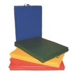 Fabrication Enterprises CanDo Mat with Handle: Center Fold, 2 inch PU Foam with Cover, 4 x 4 foot, Specify Color