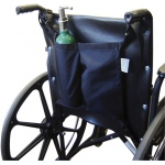 Wheelchair accessory, mini oxygen tank holder