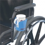 Wheelchair accessory, clamp-on cup holder