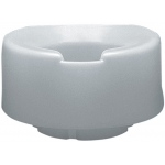 Contoured elevated toilet seat, standard with slip-in bracket, 2 inch
